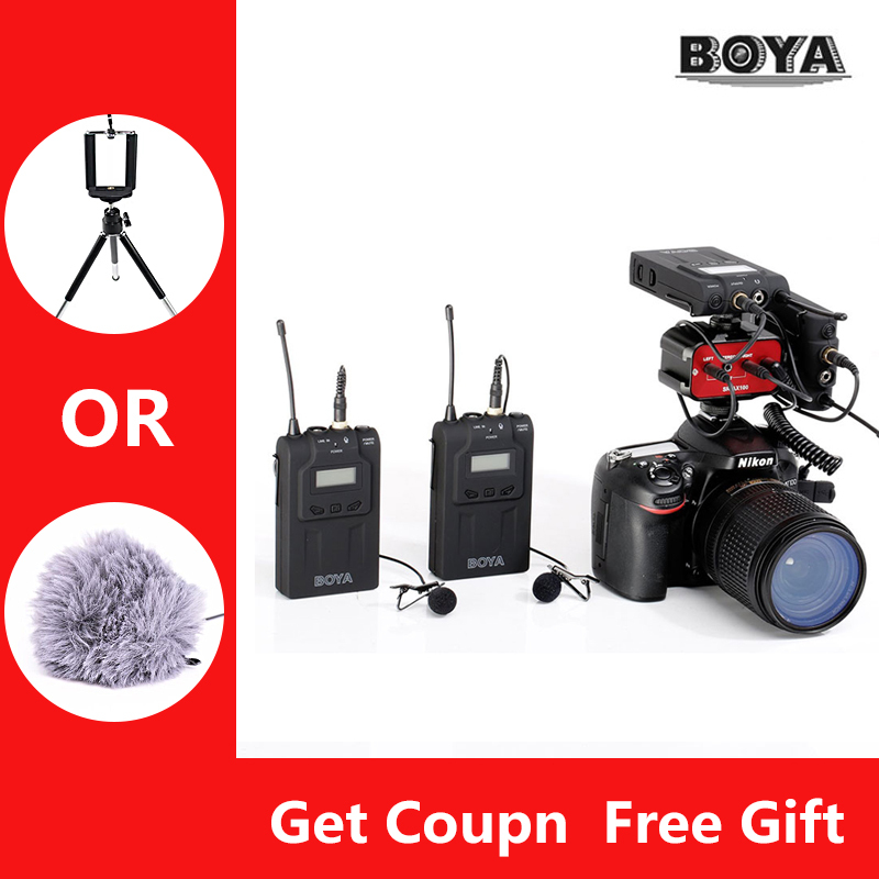 BOYA BY-WM6 Microphone Condenser Sound Mic With Cold Shoe Mount For Camera Recording Braodcasting Microfone BY-WM6 3 5mm jack audio condenser microphone mic studio sound recording wired microfone with stand for radio braodcasting singing