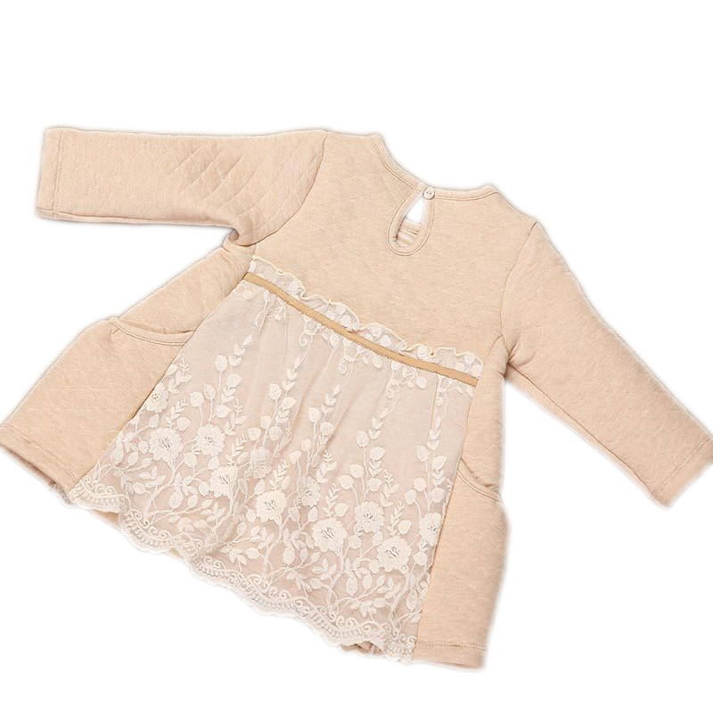 18c2ad0787fb3 US $21.99 |MOHOCAKO Naturally Colored Cotton Autumn & Winter Baby Girl  Dresses New Casual Lace Toddler Girls Clothes Baby Clothing-in Dresses from  ...