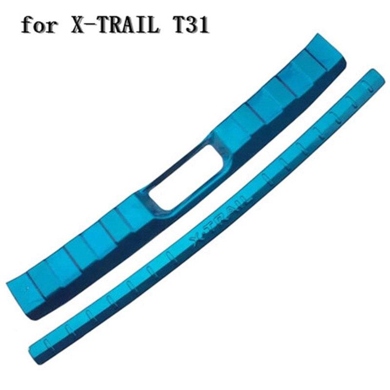 2 pièces pour Nissan x-trail X Trail Rogue T31 2008-2013 acier inoxydable pare-chocs arrière porte arrière seuil de hayon couverture garniture protecteur