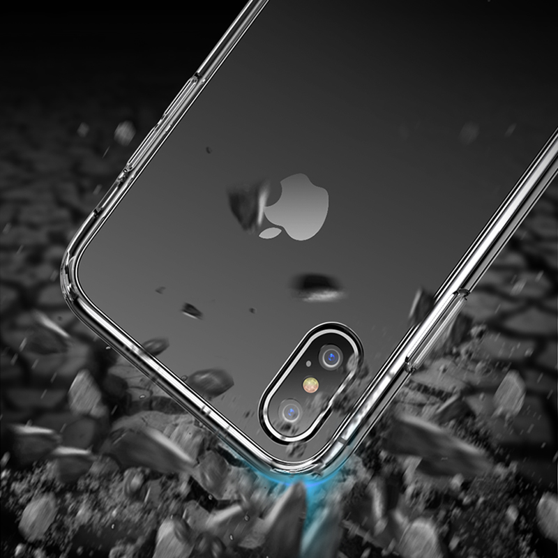 AKBKTII TPU Transparent phone case for iPhone XS MAX Case XR XS for iPhone 7 plus Cover for iPhone 6s 8 plus Defence Soft Shell in Half wrapped Cases from Cellphones Telecommunications