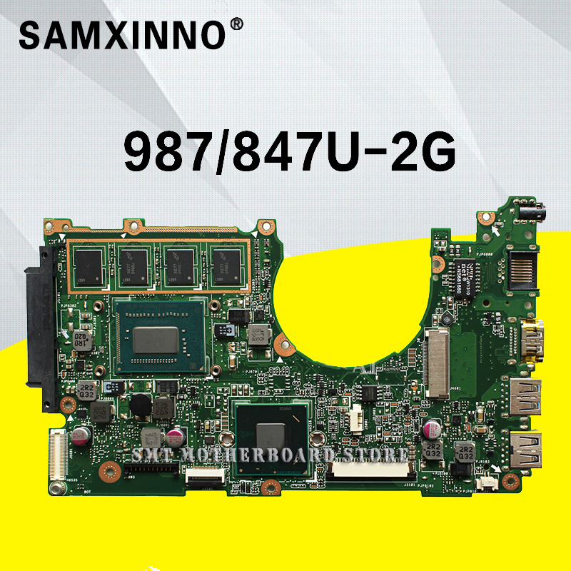 X202E Motherboard 847/987U-REV:2.0 For ASUS Q200E X201E S200E laptop Motherboard X202E Mainboard X202E Motherboard test 100% ok x202e q200e s200e x201e laptop motherboard mainboard for asus with i3 2365cpu 4g ddr3 1333 mhz tested