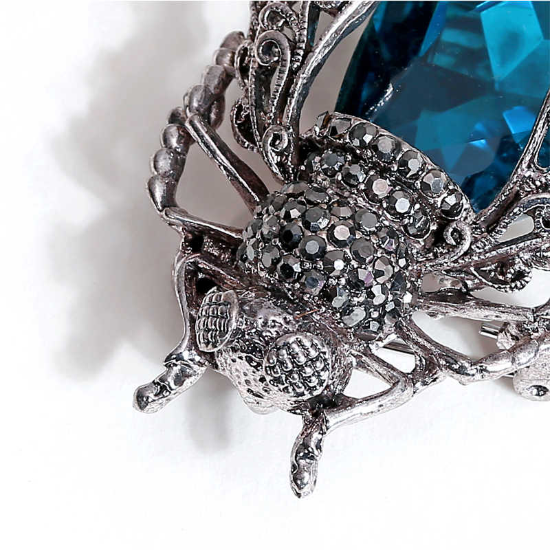 Morkopela クリスタル昆虫ブローチカブトムシブローチピンファッションのブローチピンスカーフクリップジュエリーブローチ花束