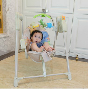 Baby electric rocking chair baby cradle swing chair rocking chair baby 2017 new babyruler portable baby cradle newborn light music rocking chair kid game swing