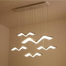 Современные светодиодсветодиодный подвесные светильники в виде чайки для гостиной, столовой, кухни, подвесные декоративные осветительные приборы для дома