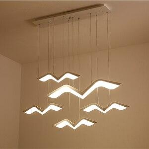 Image 1 - Martı modelleme Modern LED kolye ışıkları oturma odası yemek odası için mutfak ev asılı dekor süspansiyon aydınlatma armatürleri