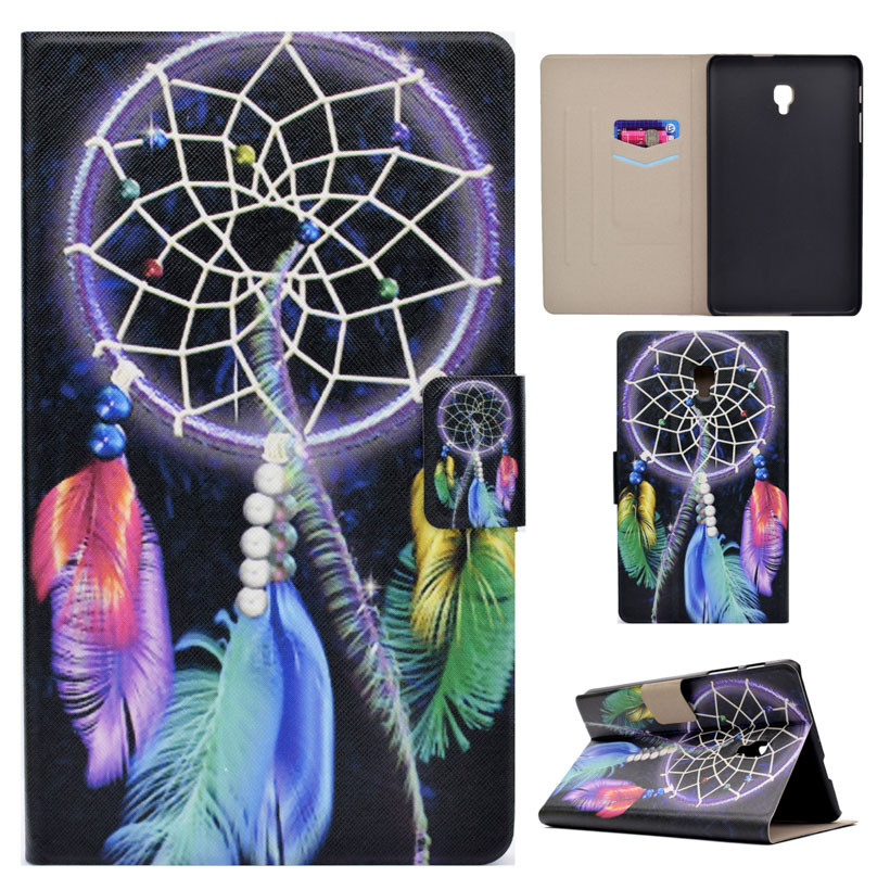 Pattern Painted PU Leather Tablet Cases For Samsung Galaxy Tab A 8.0 2017 T380 T385 Case Stand With Card Bag Cover