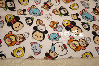 50 180cm Minnie Mickey Mouse Tsum Tsum Simulation Knitted Terry Cotton Fabric For Sewing Diy Patchwork