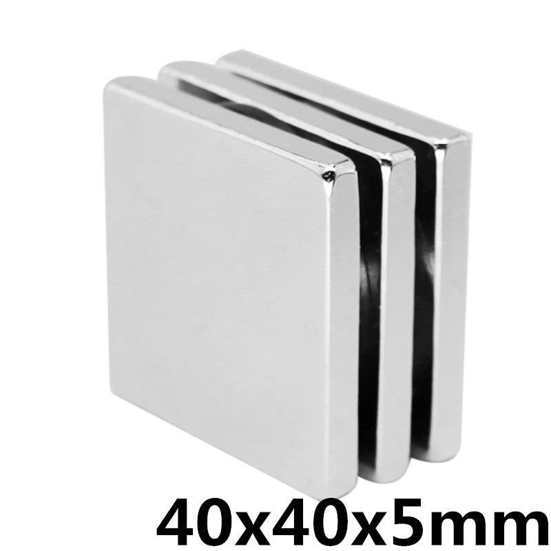1Pc 40x40x5mm Neodymium Magnet Block N35 Permanent Super Strong Powerful Small Magnetic Magnets Square1Pc 40x40x5mm Neodymium Magnet Block N35 Permanent Super Strong Powerful Small Magnetic Magnets Square
