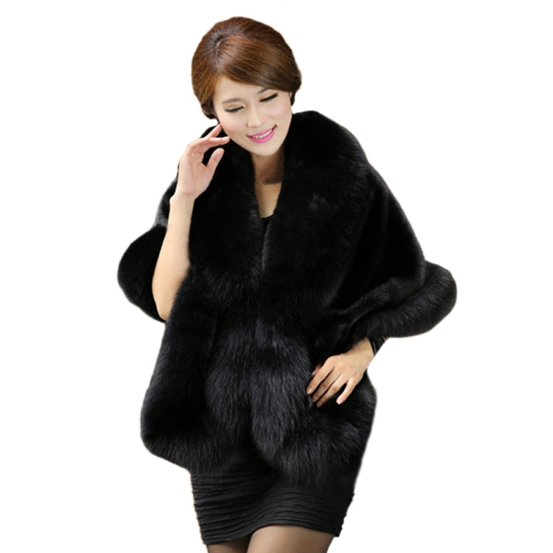 Apparel Accessories Elegant Womens Faux Fur Scarves Super Large Winter Warm Fur Coat Shawl Cape Fashion Solid Ladies Faux Fur Pashmina Poncho X4 As Effectively As A Fairy Does