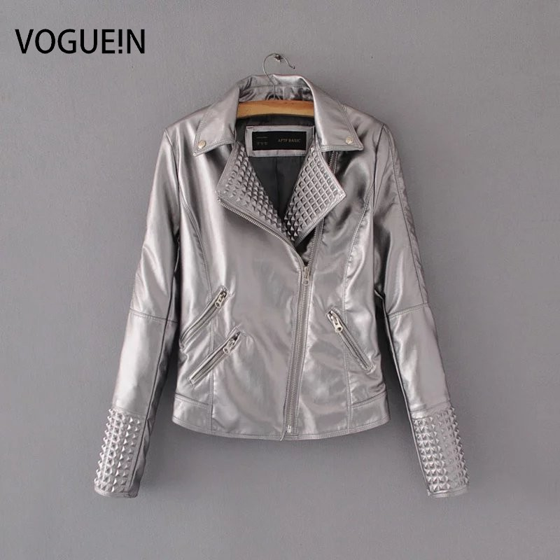 VOGUE!N New Womens Ladies 5 Bright Colors Faux   Leather   Motorcycle Biker Coat Jacket Size SML Wholesale