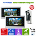 Homefong 10  inch  TFT LCD Door Phone Video Doorbell System with  Camera Wired Video  1200TVL 1V2 Home Apartment Entry Kit