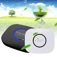 White/Black Car Air Purifier Negative Ions Air Cleaner Ionizer Air Freshener Pm2.5 Eliminator with 5V USB Car Charger