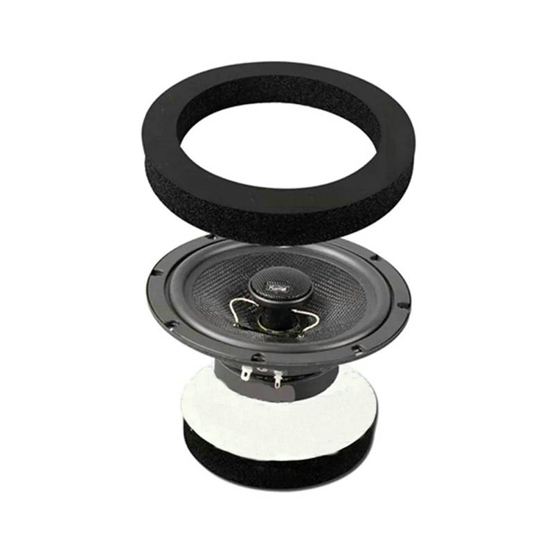 6.5 Inch Car Speaker Ring Bass Door Trim Sound Insulation Cotton Audio Speakers Self Adhesive Soundproof Ring