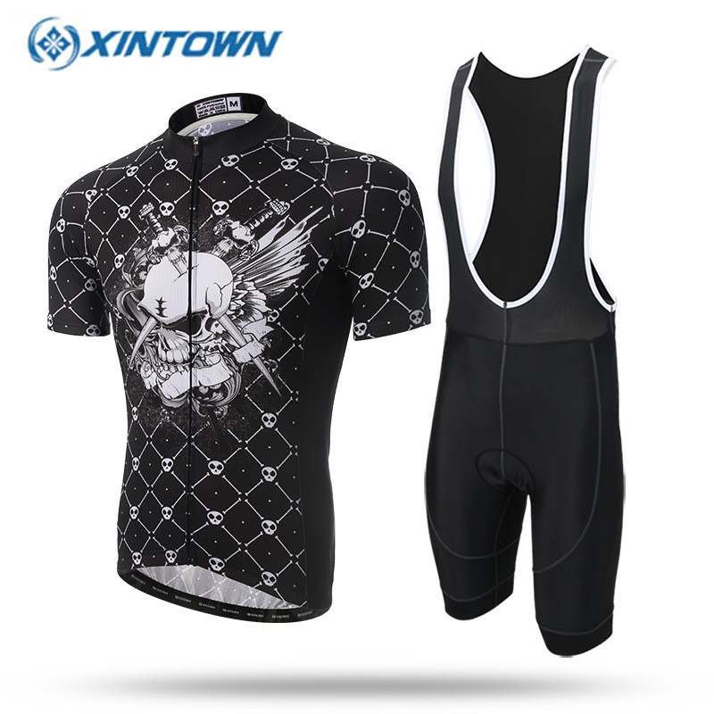 2017 Cool Skeleton Team Cycling Jersey Bicycle MTB Bike Breathable Cycling Clothing Summer Ropa Ciclismo Maillot S-3XL summer breathable bicycle bike mtb wear cycling short sleeve jersey jacket cloth clothing maillot ropa ciclismo shorts pant bib
