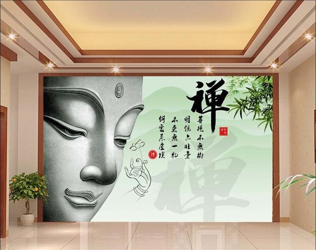 3d Wallpaper Custom Mural Non Woven 3d Room Wallpaper Zen Buddha Sitting  Room TV Setting Wall Photo 3d Wall Murals Wallpaper
