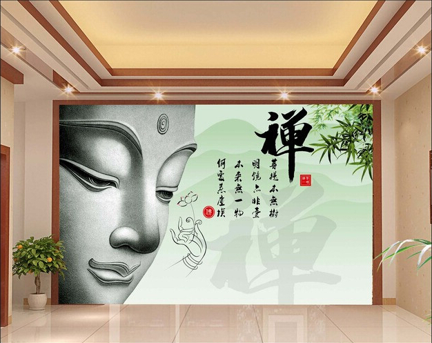 Buy 3d wallpaper custom mural non woven 3d room wallpaper zen buddha sitting - Wallpaper volwassen kamer zen ...