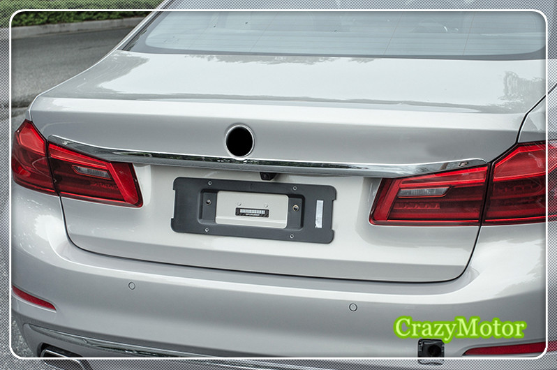For BMW 5 SERIES G30 2017 2018 ABS Chrome Rear Trunk Lid Cover Trim 1pcs car accessories car auto accessories rear trunk molding lid cover trim rear trunk trim for nissan sunny versa 2011 abs chrome 1pc per set