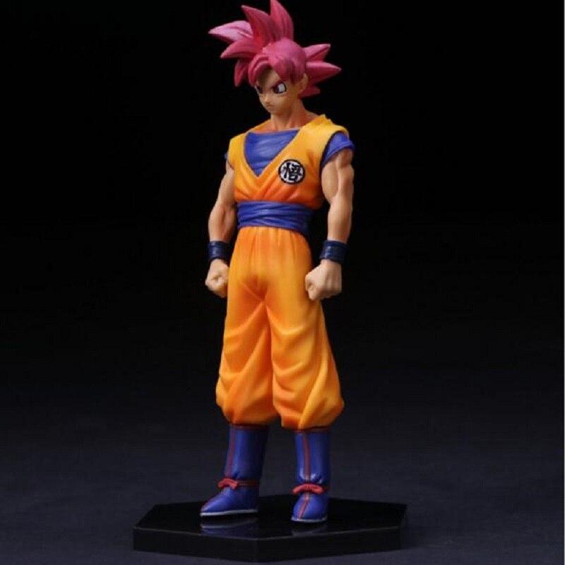 Dragon Ball Red Hair Son Goku Pvc Action Figure Model Toy Movie & TV Dragon Super Saiyan DIY Display Toy Cartoon Chirstmas Gift