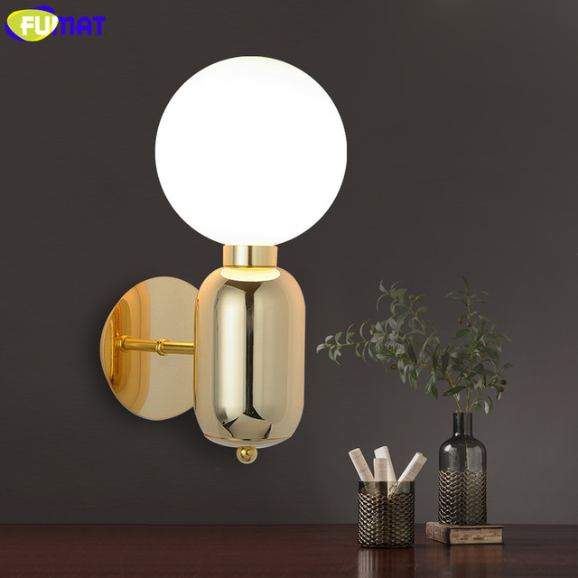 FUMAT Aballs Wall Lamp Modern Bathroom Wall Light Fixtures Bed ...