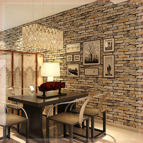 3D Stone Brick Wallpaper Photo Wall Paper Red Designer Vintage Living Room  Background Wall Home Decor Christmas New Year Papeles In Wallpapers From  Home ...