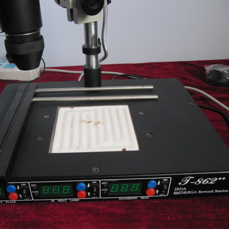 IRDA infrapuna-ümbertöötlemismasin, BGA SMD SMT lahtikombineeritav - Keevitusseadmed - Foto 4