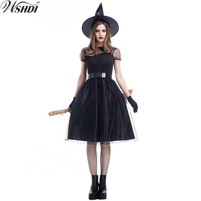 M Xl Hot Black Witch Costume Deluxe Womens Magic Moment