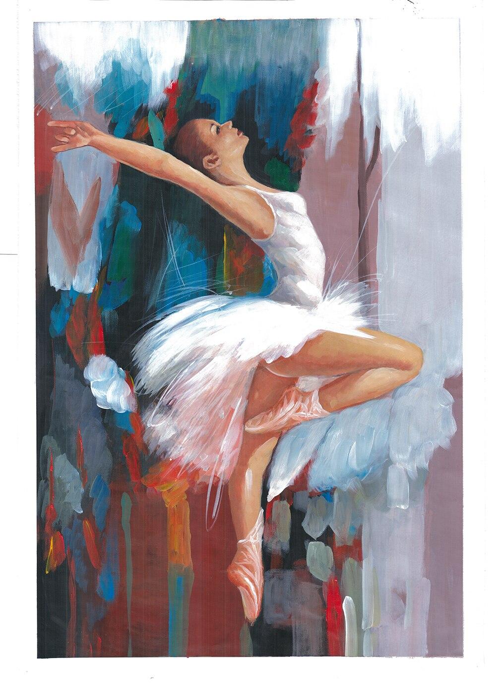 Compra pinturas famosas bailarinas online al por mayor de for Pinturas acrilicas para cuadros