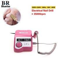 Nail Drill Manicure Machine Set Pedicure Tools Electric Nail Drill Pen Bit EU Plug 65w 35000 rpm Professional Nail Art Equipment