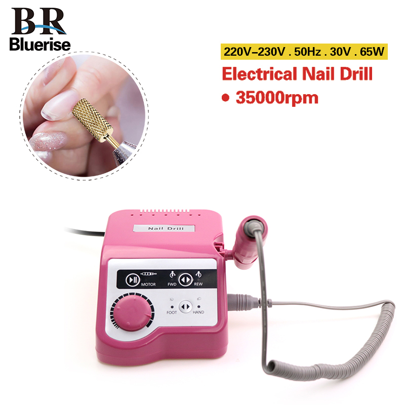 купить Nail Drill Manicure Machine Set Pedicure Tools Electric Nail Drill Pen Bit EU Plug 65w 35000 rpm Professional Nail Art Equipment по цене 3902.38 рублей