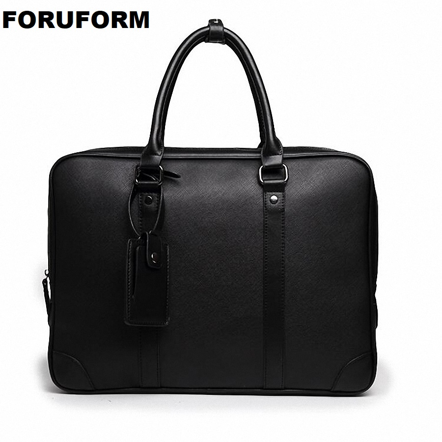 Simple Design Man Laptop Handbag Soft PU Leather Fashion Man Business Briefcase Messenger Bag Fashion Man Handbag LI-2452