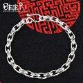 Beier 925 prata esterlina pulseira top quality alta polido pulseira link pulseira cadeia mão do punk clássico sctyl0045