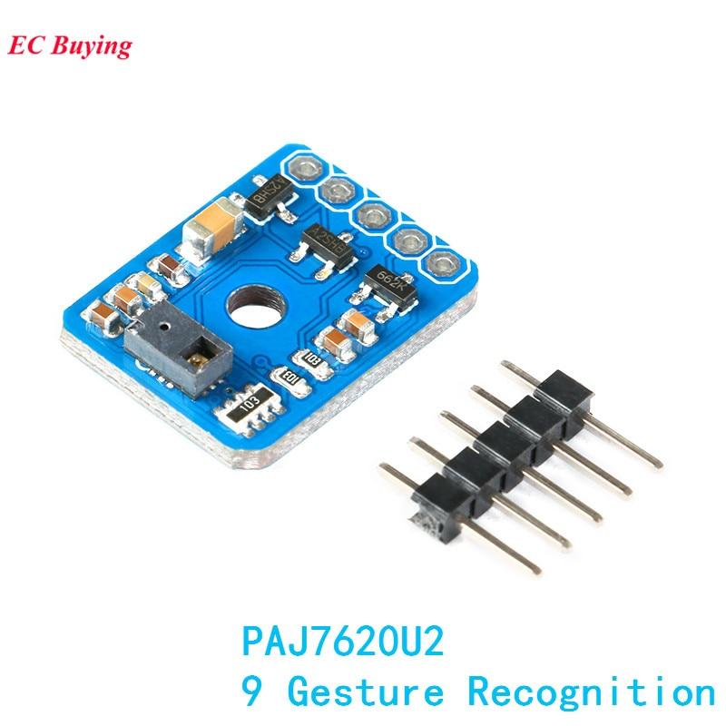 PAJ7620U2 Gesture Recognition Sensor Module DIY IIC 9 Gesture Recognition Board for Arduin