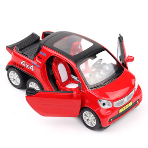 Image 4 - HOMMAT Simulation 1:24 Smart Fortwo 4x4 Pickup Vehicle Model Alloy Diecast Toy Car Model Toys For Children Kids Christmas Gift