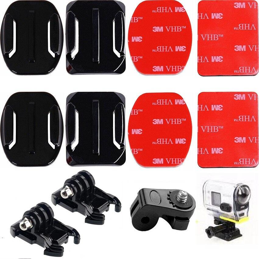 Soportes adhesivos para Sony acción CAM Cámara HDR-AS20V AS30V AS100V 4 k x 1000 V planas y curvas casco palo Montaje Lateral