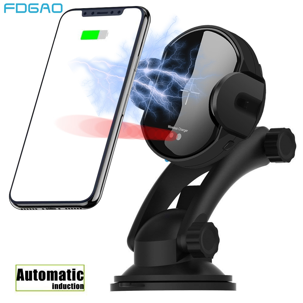 FDGAO QI Drahtlose Auto Ladegerät Automatische Infrarot Sensor Air Vent Auto Telefon Halter für iPhone XS Max XR X 8 samsung S9 S8 Xiaomi