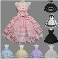 Anime Ladies Victorian Lolita Gothic Barbie Palace Retro Chiffon Lace Princess Dress Cosplay Costume 10 Colors