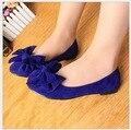 Женщины плоские туфли весна и осень супер мягкие и удобные сладкий лук круглый носок плоские туфли 33-43 плюс размер