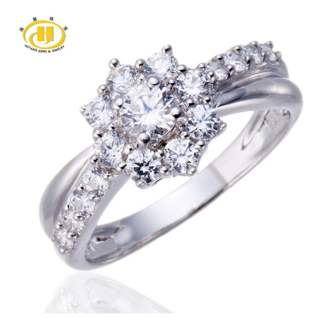 Hutang Classic Genuine 925 Sterling Silver Ring High Quality Brand Fine Jewelry Enagement Wedding