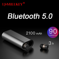 Touch Control TWS True 5.0 Bluetooth Earphone Earbuds Earpiece Mini Twins Stereo Microphone Wireless Earbuds for All Smart Phone