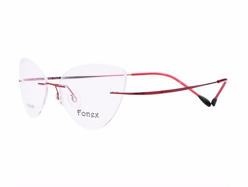 rimless women cat eye glasses silhouette fashion eyewear eyeglasses (9)