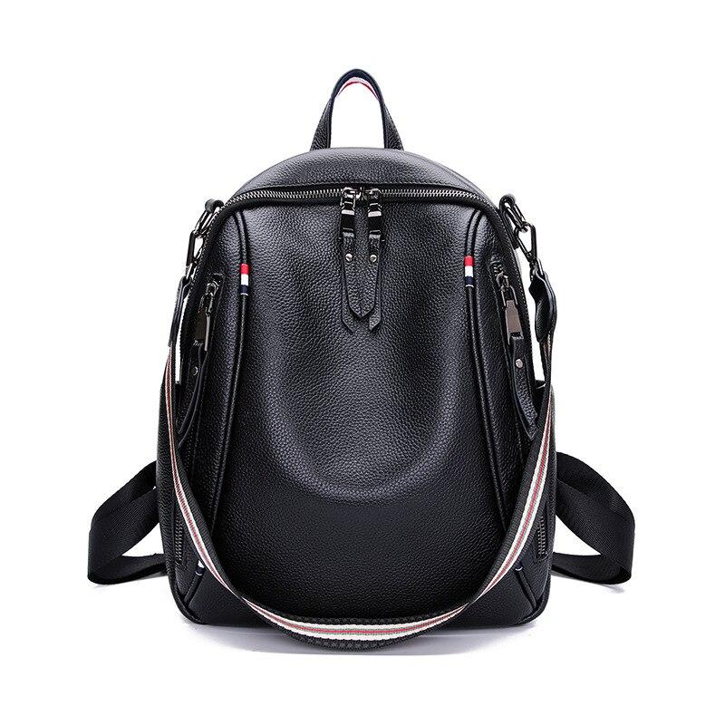 JIULIN, черный рюкзак из натуральной кожи, сумка для колледжа, для ноутбука, для путешествий, маленький, Противоугонный, для женщин, для девочек, мода - 3
