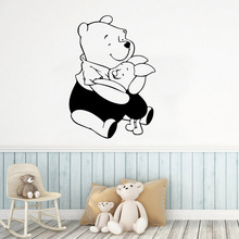 Diy Winnie Bear Home Decor Modern Acrylic Decoration For Kids Room Nature Bedroom Accessories Murals adesivi murali