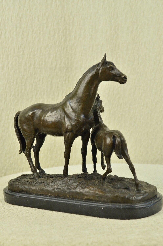 Bronze Antike Originale Vor 1945 Provided Wunderschöne Alte Schwere Bronze Skulptur Wildes Pferd.
