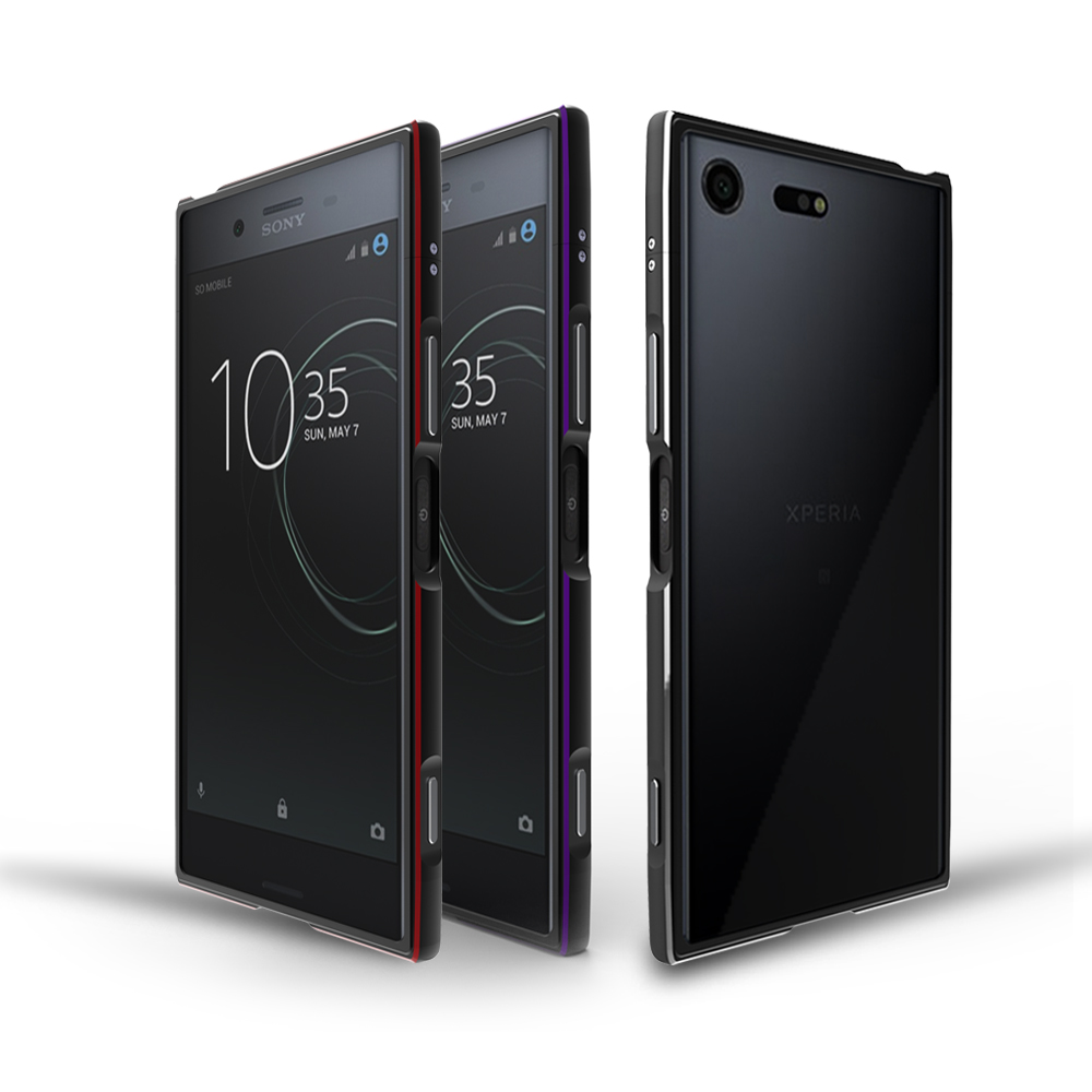 For Sony Xperia XZ1 Bumper Cover Luxury Deluxe Ultra Thin Metal Aluminum Frame Case forSony ...