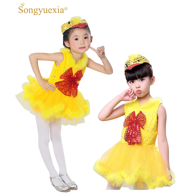 Childrenu0027s dancewear Crazy Chicken Costume Infant animal costume yellow duck dance clothes bird Cosplay dance dress  sc 1 st  AliExpress.com : duck infant costume  - Germanpascual.Com