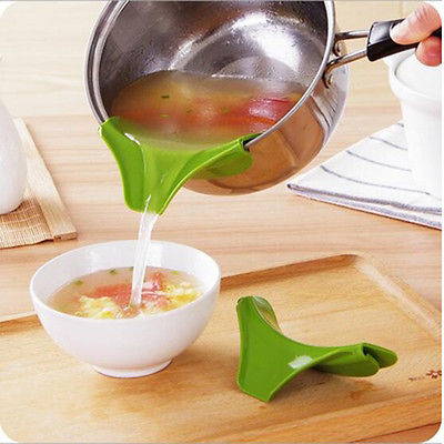 Hot Sale <font><b>Kitchen</b></font> Gadget Funnel Anti-spill Pans Rim <font><b>Silicone</b></font> Deflector Liquid Diversion <font><b>Tool</b></font> image