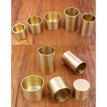 4Pcs Round Brass Tip Cap for Mid Century Modern Table Leg Feet Replacement Cover and Sofa Foot Seal Cover