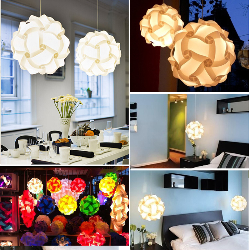 30pcs Jigsaw Lamp Elements IQ Puzzle DIY Size S Creative Bar Decor Light Shade Lampshade Design Home Decoration