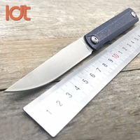 LDT Titanium Zebra Folding Knife S35VN Blade Titanium Handle Survival Hunting Camping Outdoor Knives Tactical Knife