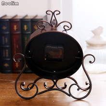 NOOLIM European Antique Luxury Iron Clock Living Room Home Vintage Clock Table Clock Retro Roman Digital Desktop Ornaments